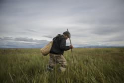 Using a grass bag
